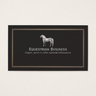 Vintage Horse Etching Equestrian Business Card