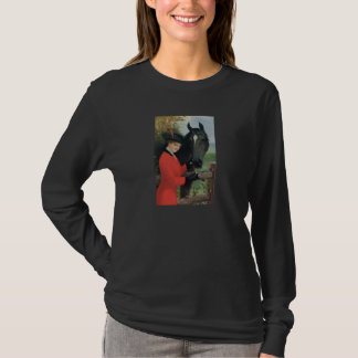 Vintage Horse Girl Red Coat Equestrian Sugar Cube T-Shirt