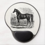 Vintage Horse - Horses and Pony Equine Templates Gel Mousepad