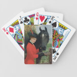 Vintage Horse Image Equestrian Red Riding Coat Bicycle Card Decks