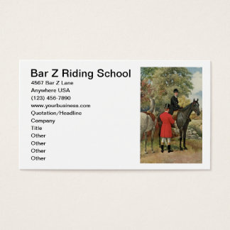 Vintage Horse Image Equestrian Riding Stable Business Card