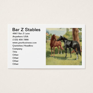 Vintage Horse Image Equestrian Riding Stables Business Card