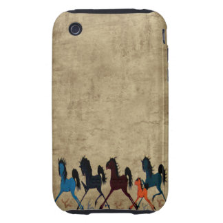 Vintage Horse iPhone 3 Tough Covers