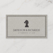 Vintage Horse Knight Chess Piece Attorney, Lawyer Business Card