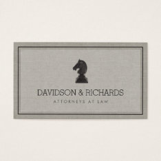 Vintage Horse Knight Chess Piece Attorney, Lawyer Business Card at Zazzle
