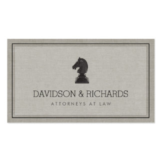 Vintage Horse Knight Chess Piece Attorney, Lawyer Double-Sided Standard Business Cards (Pack Of 100)