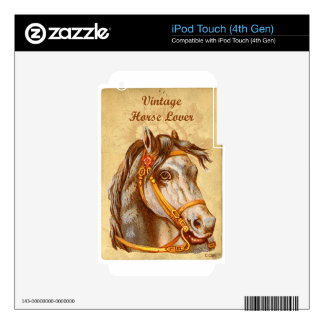 Vintage Horse Lover Skins For iPod Touch 4G