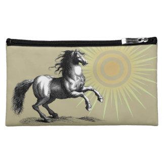 Vintage Horse Makeup Bag