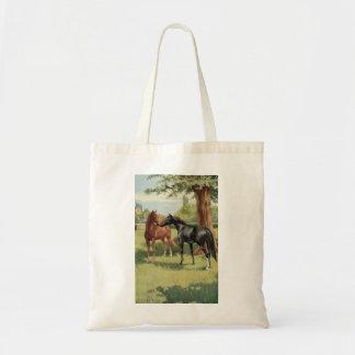 Vintage Horse Mare Stallion Equestrian Bag
