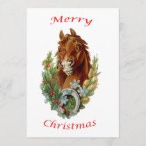 Vintage Horse Merry Christmas Invitation