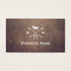 Vintage Horse Monogram Professional Equestrian Business Card at Zazzle
