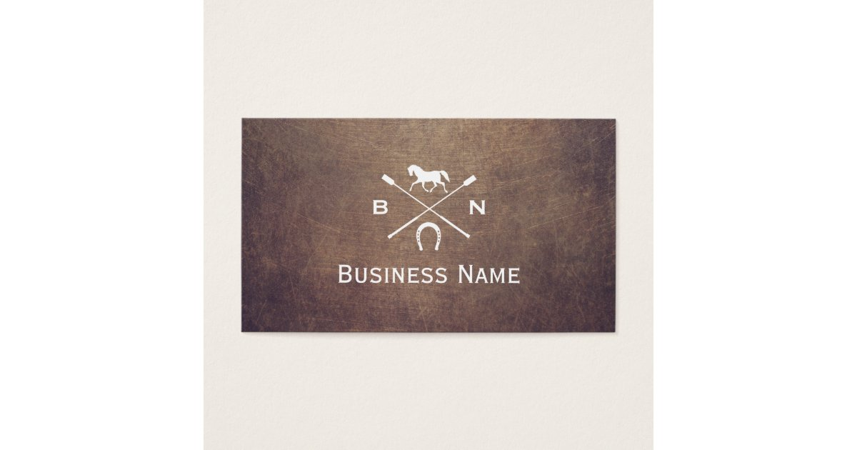 Vintage Horse Monogram Professional Equestrian Business Card ...