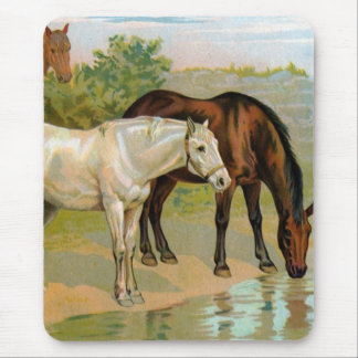 Vintage Horse Painting Mouse Pad