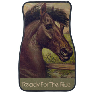 Vintage Horse Car Floor Mats Zazzle