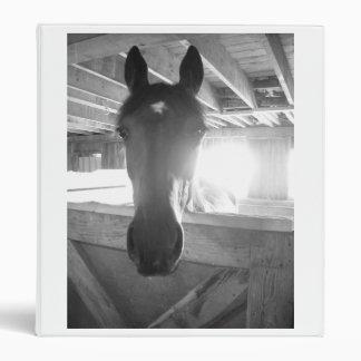 Vintage Horse Photo 3 Ring Binder