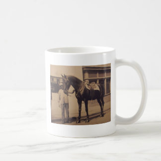 Vintage Horse Picture Classic White Coffee Mug