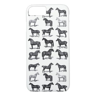 Vintage Horse Poster iPhone 8/7 Case