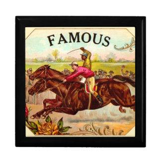 Vintage Horse Racing Thrill of the Race Keepsake Box