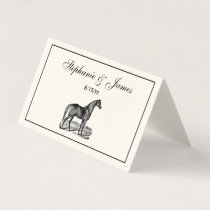 Vintage Horse Standing Place Card