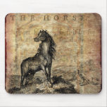 Vintage Horse Thoroughbred and Arabian Horses Mouse Pad