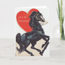 Vintage Horse Valentine Holiday Card