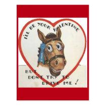 Vintage Horse Valentine Postcard