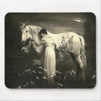 Vintage Horse Victorian Lady Mousepad