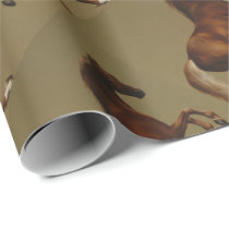 Vintage Horse Whistlejacket by George Stubbs Wrapping Paper