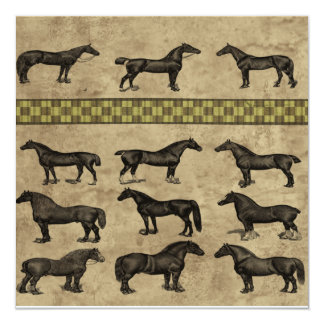 Vintage Horses Card