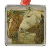Vintage Horses Christmas Tree Ornament