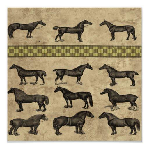 Vintage Horses Custom Invite