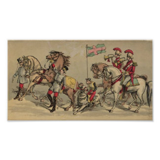 Vintage Horses in a Circus Posters