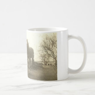 Vintage Horses Photo on a Classic White Mug