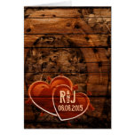 vintage horseshoe hearts western country wedding greeting card