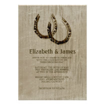 Vintage Horseshoes Wedding Invitations Personalized Announcement