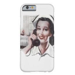 Vintage Hospital Ward Nurse on Telephone Barely There iPhone 6 Case