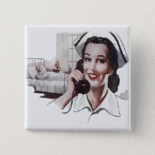 Vintage Hospital Ward Nurse on Telephone Button