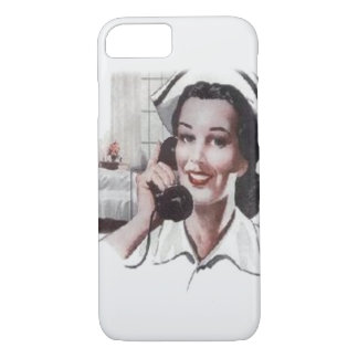 Vintage Hospital Ward Nurse on Telephone iPhone 8/7 Case