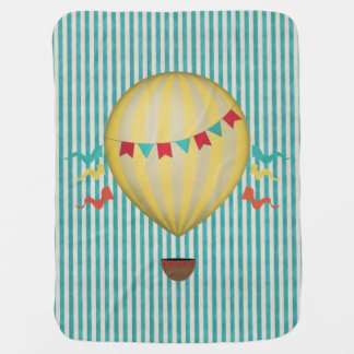 Vintage Hot Air Ballon Baby Blankets