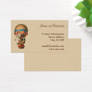 Vintage Hot Air Balloon Business Card