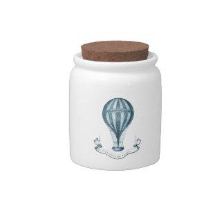 Vintage Hot Air Balloon Candy Jar