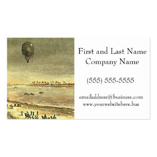 Vintage Hot Air Balloon Egyptian Illustration Business Card Template