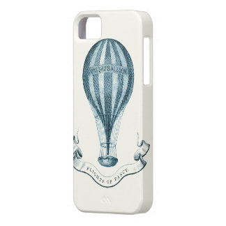 Vintage Hot Air Balloon in Blue iPhone 5 Case