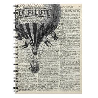 Vintage Hot Air Balloon Notebook