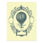 Vintage Hot Air Balloon Pilot Birthday Party Postcards