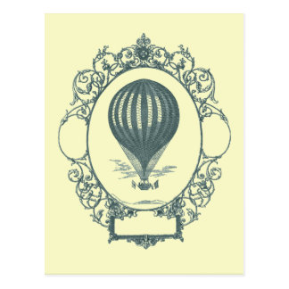 Vintage Hot Air Balloon Pilot Birthday Party Postcard