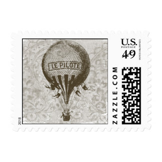 Vintage Hot Air Balloon Stamps
