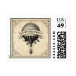 Vintage Hot Air Balloon Postage Stamp
