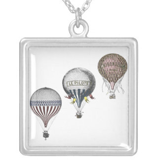 Vintage Hot Air Balloon Race Necklace
