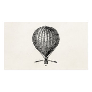 Vintage Hot Air Balloon Retro Airship Balloons Double-Sided Standard Business Cards (Pack Of 100)